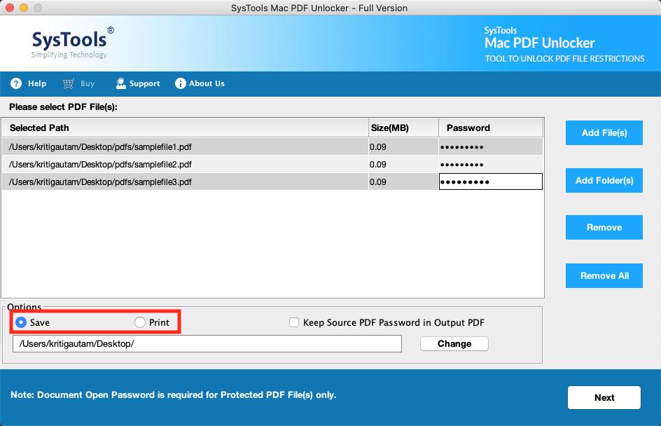 save and print pdf files
