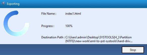 display export process