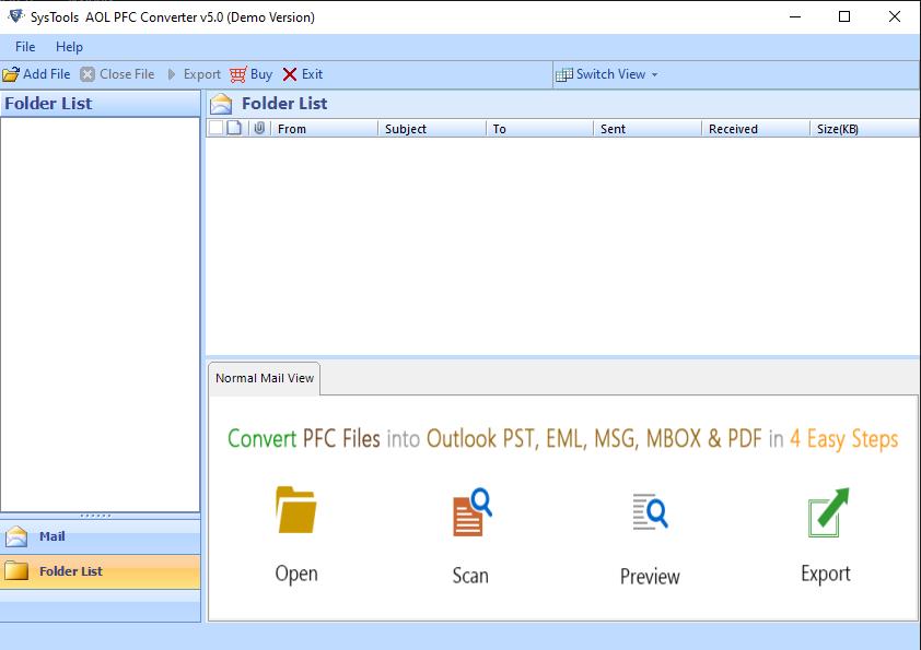 Free AOL PFC File Reader