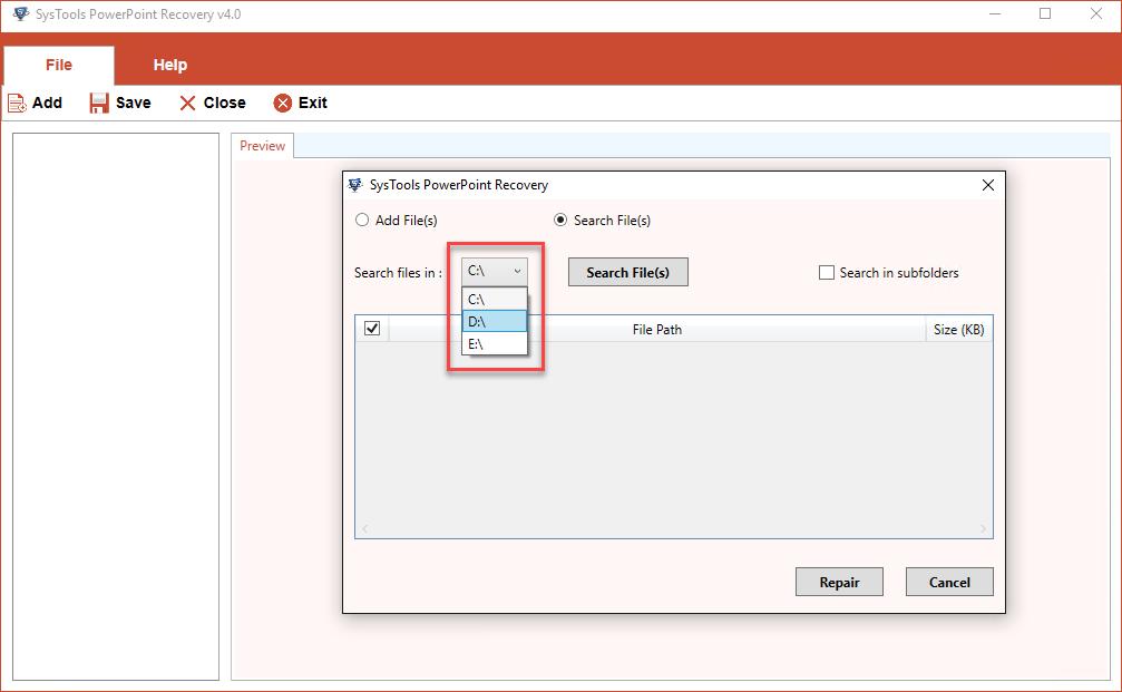 Добавить файл PPTX в программное обеспечение