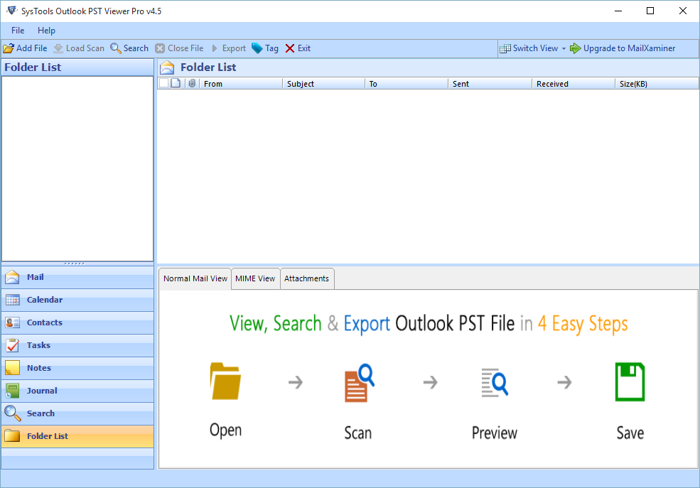 Outlook PST Viewer Pro
