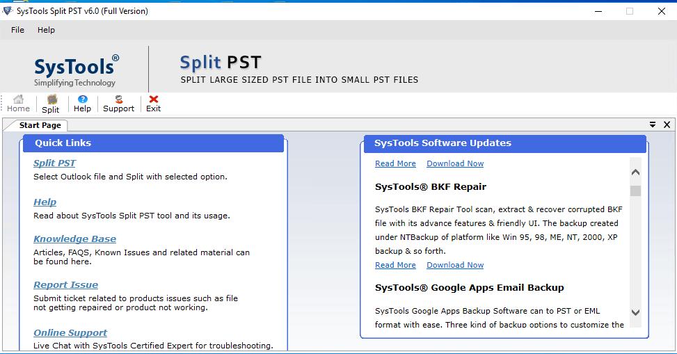 SysTools PST Splitter