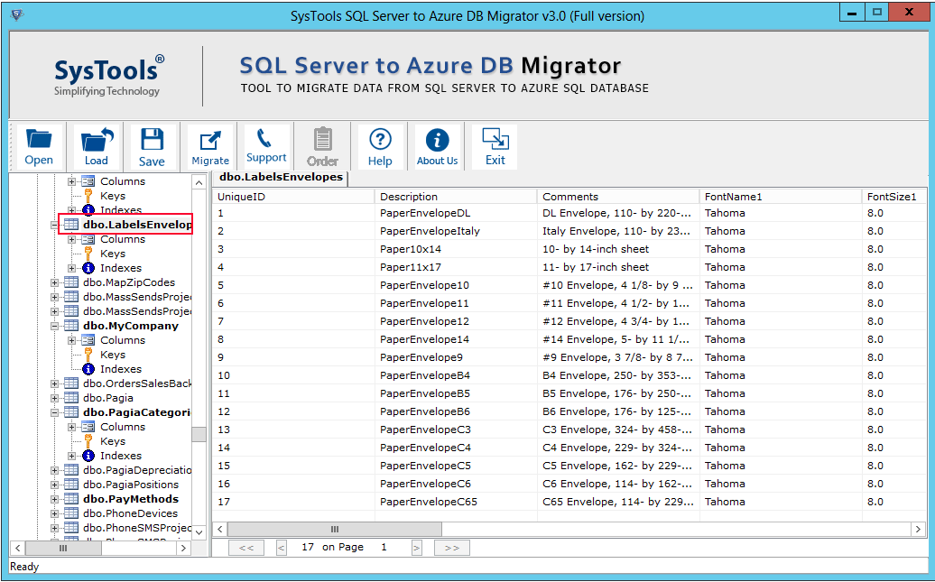 preview sql data before migration