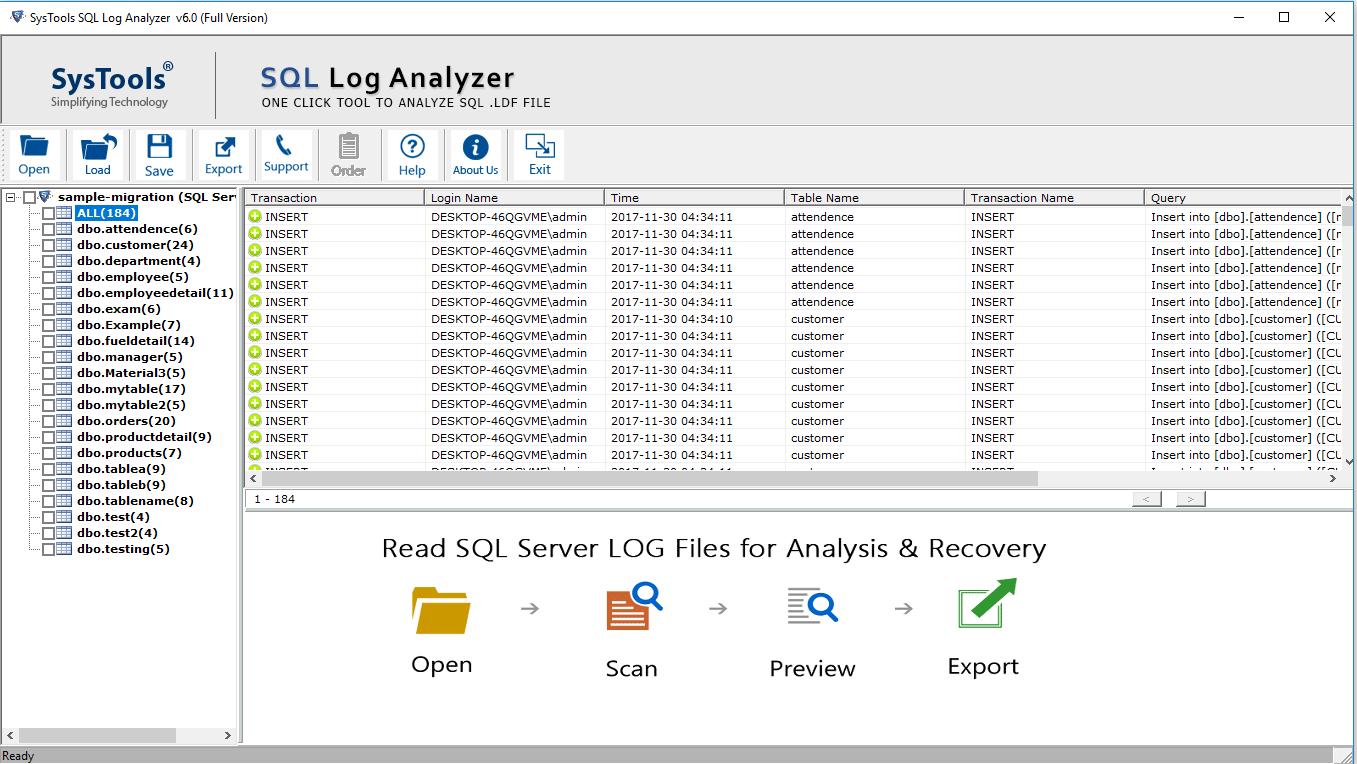 Preview SQL Logs