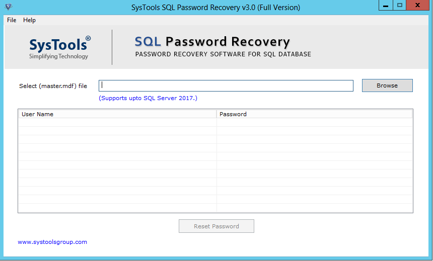 sql sa password recovery tool