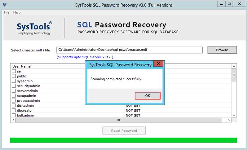 Reset SA Password