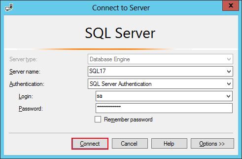 reset sql server password
