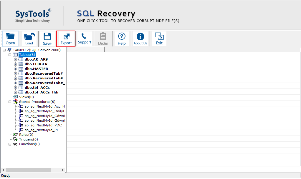 SQL database recovery software