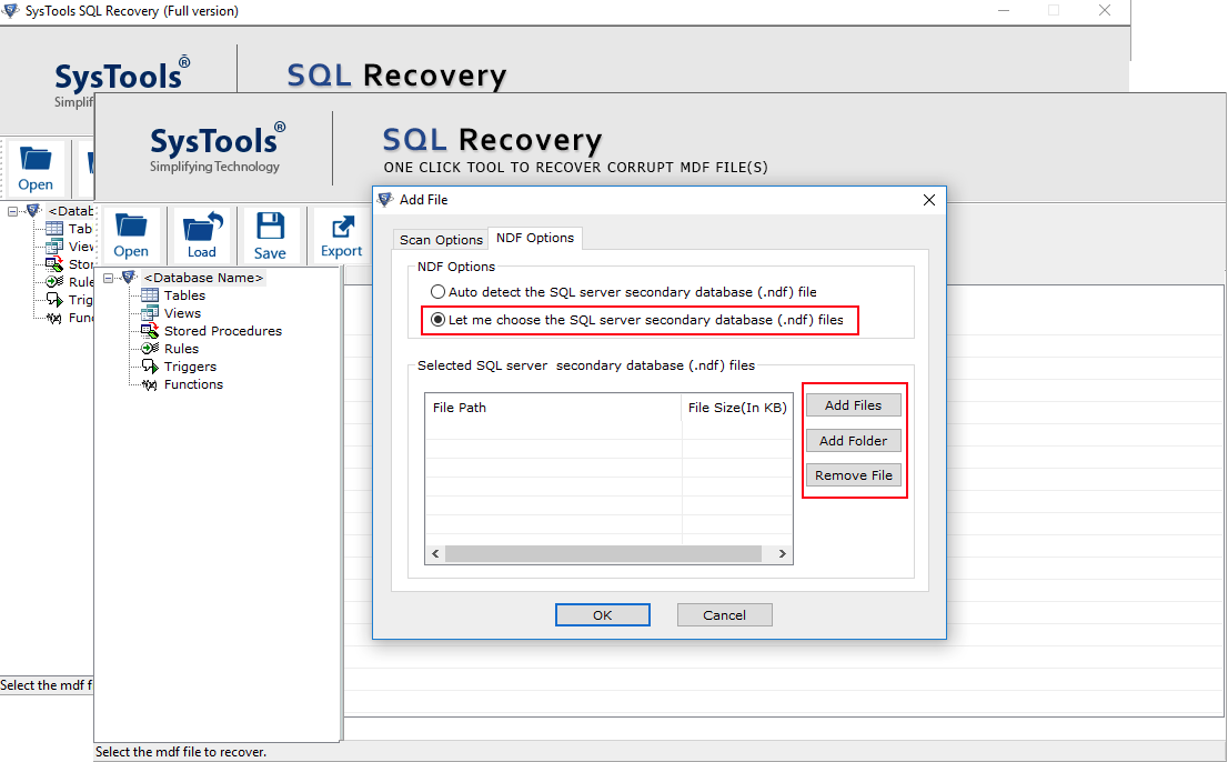 recover Multiple NDF files