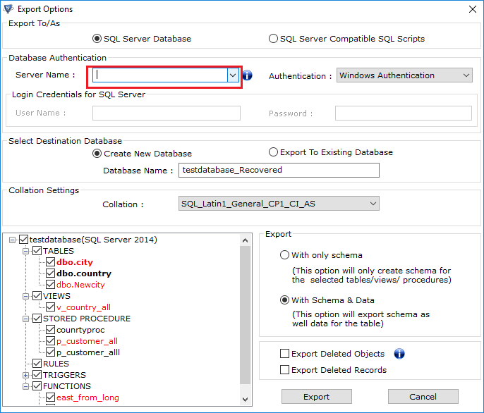 Auto Fetch SQL Server Name