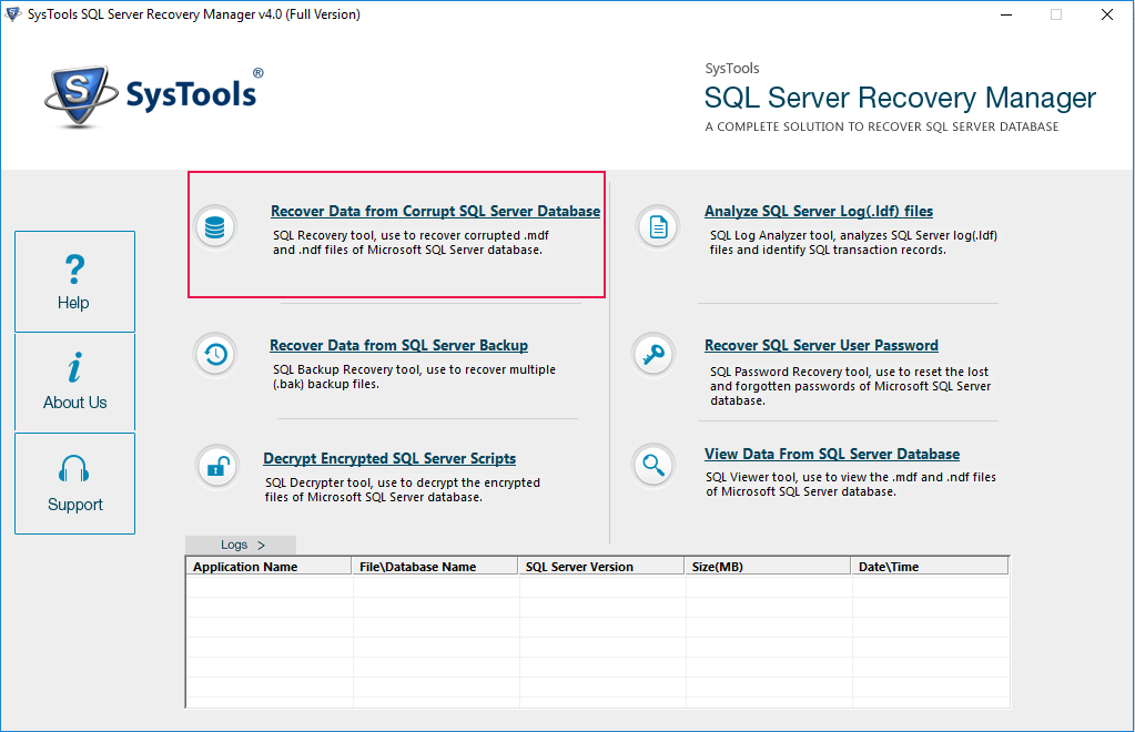 Recover SQL DB Files