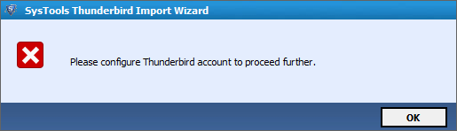 Thunderbird error