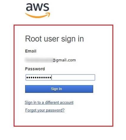 AWS Login Credentials