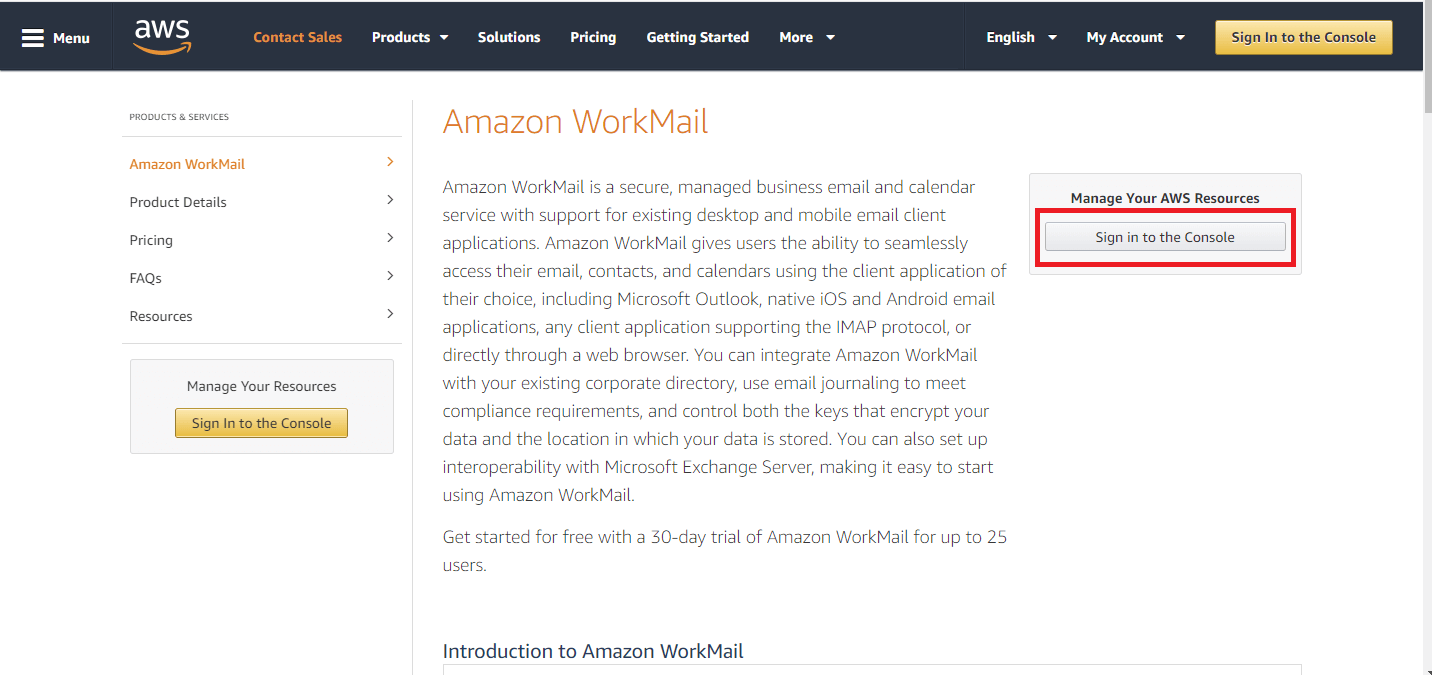 Login to AWS Mangement Console