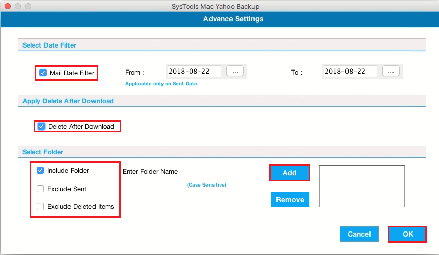 Advance backup features