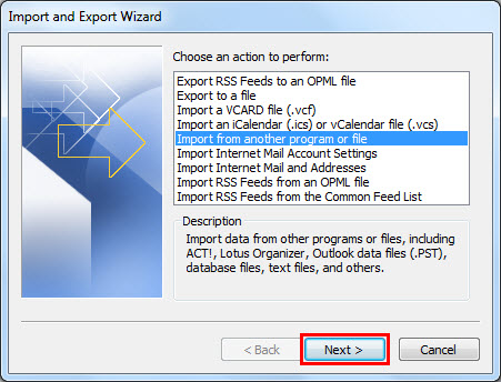 import from another program