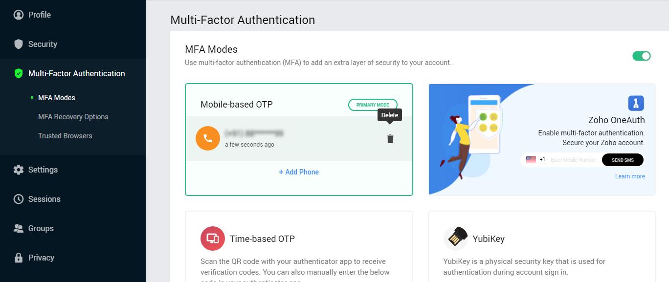 disable multi-factor verification