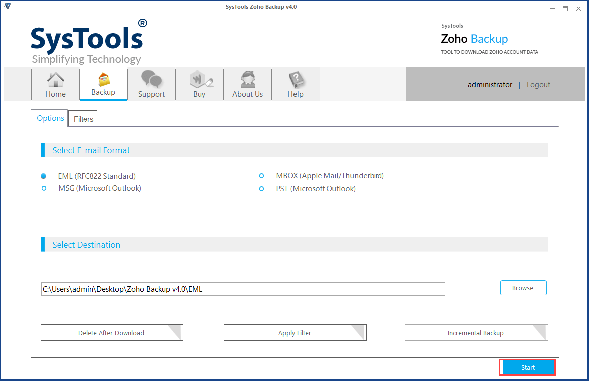 Save Archived Zoho mail emails
