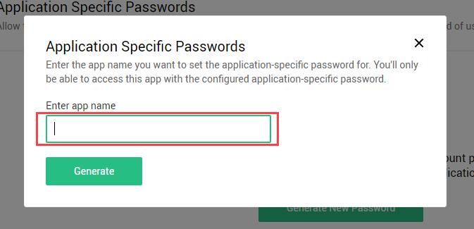enter application name