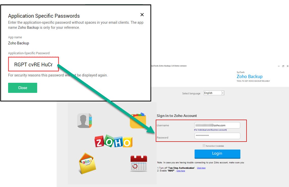 login with app password