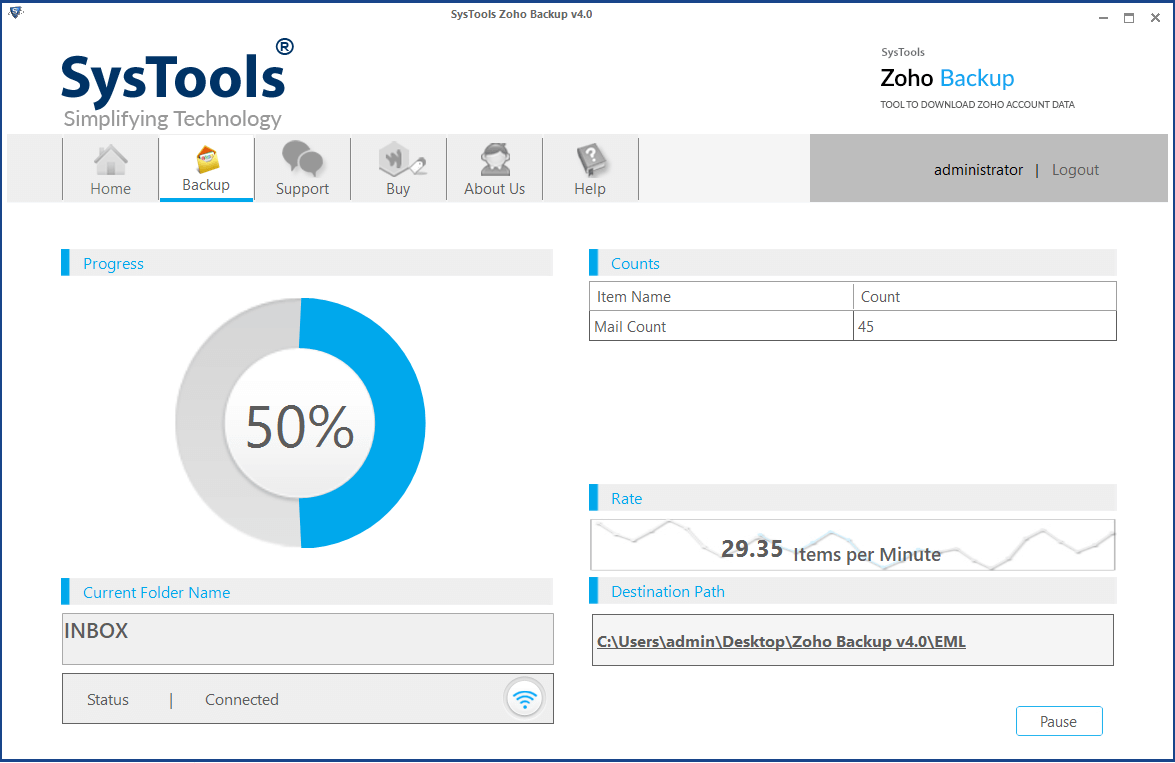 migrate zoho mail to outlook express start