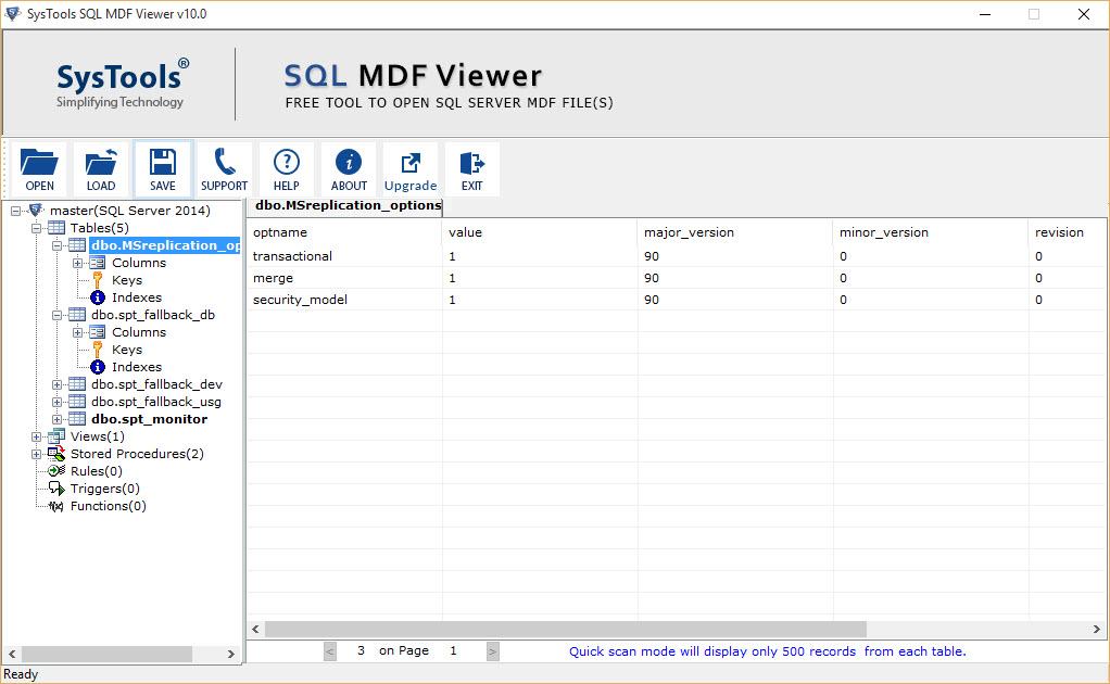 Preview SQL database