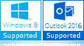 Windows 8, Outlook 2016 support