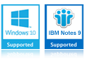 support windows 8 & Lotus Notes 9.0