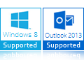windows 8 & outlook 2013 support