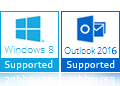 windows 8 outlook 2016