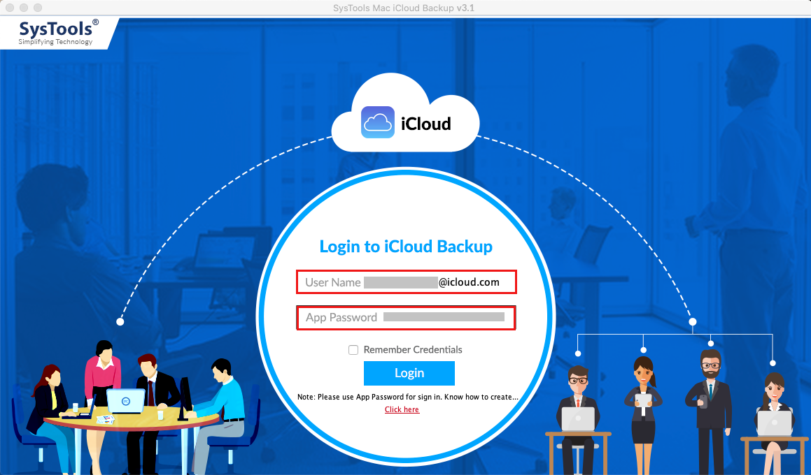 login with iCloud account Credentials