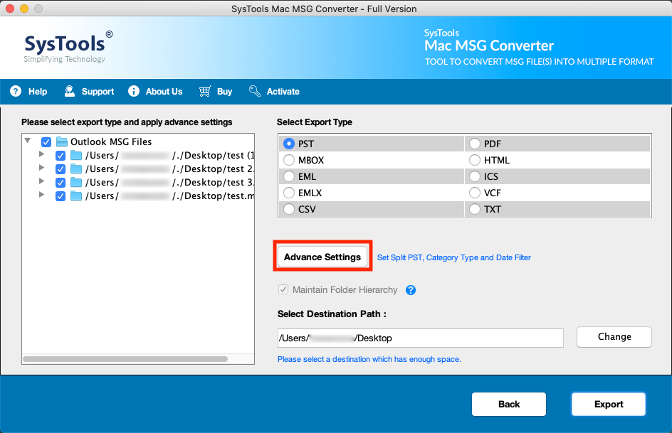 combine MSG files to PST