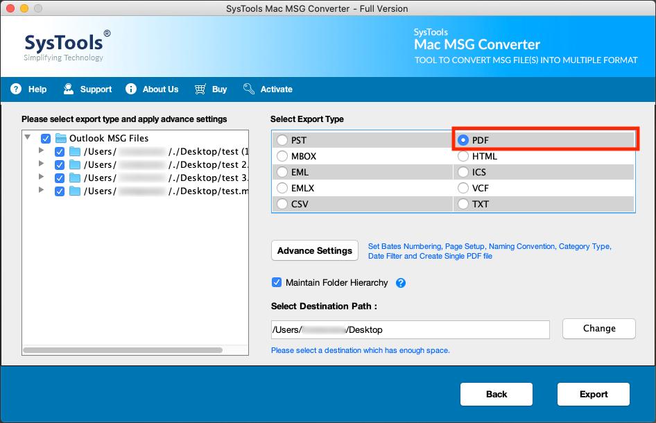 Run MSG to PDF Converter Tool