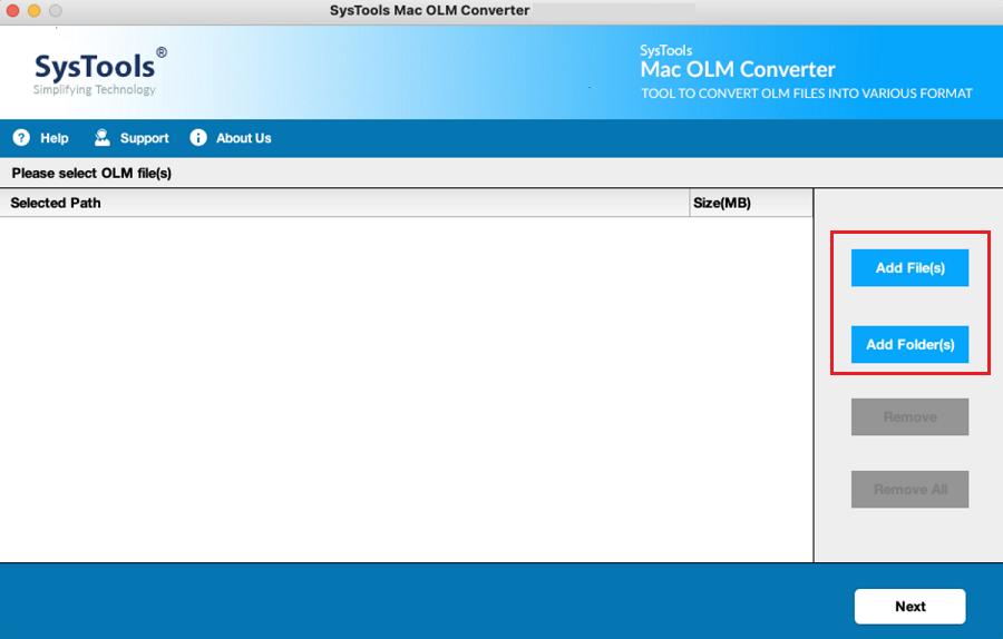 Add file / folders