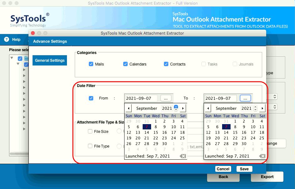 date filter option