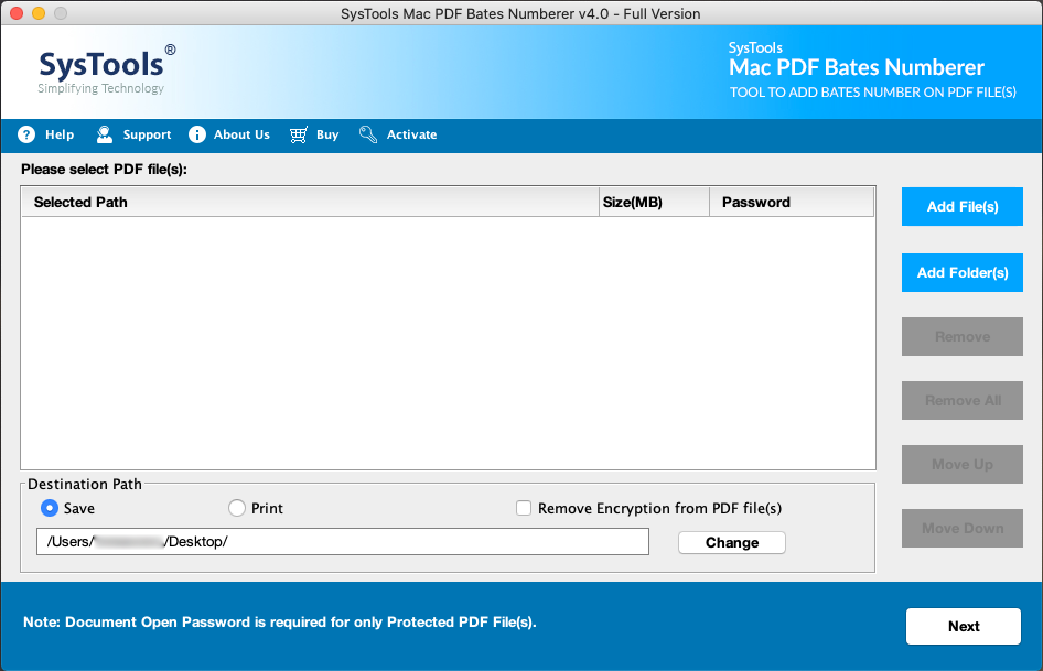 Mac PDF Bates Numbering tool