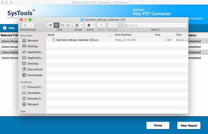 exported ICS data