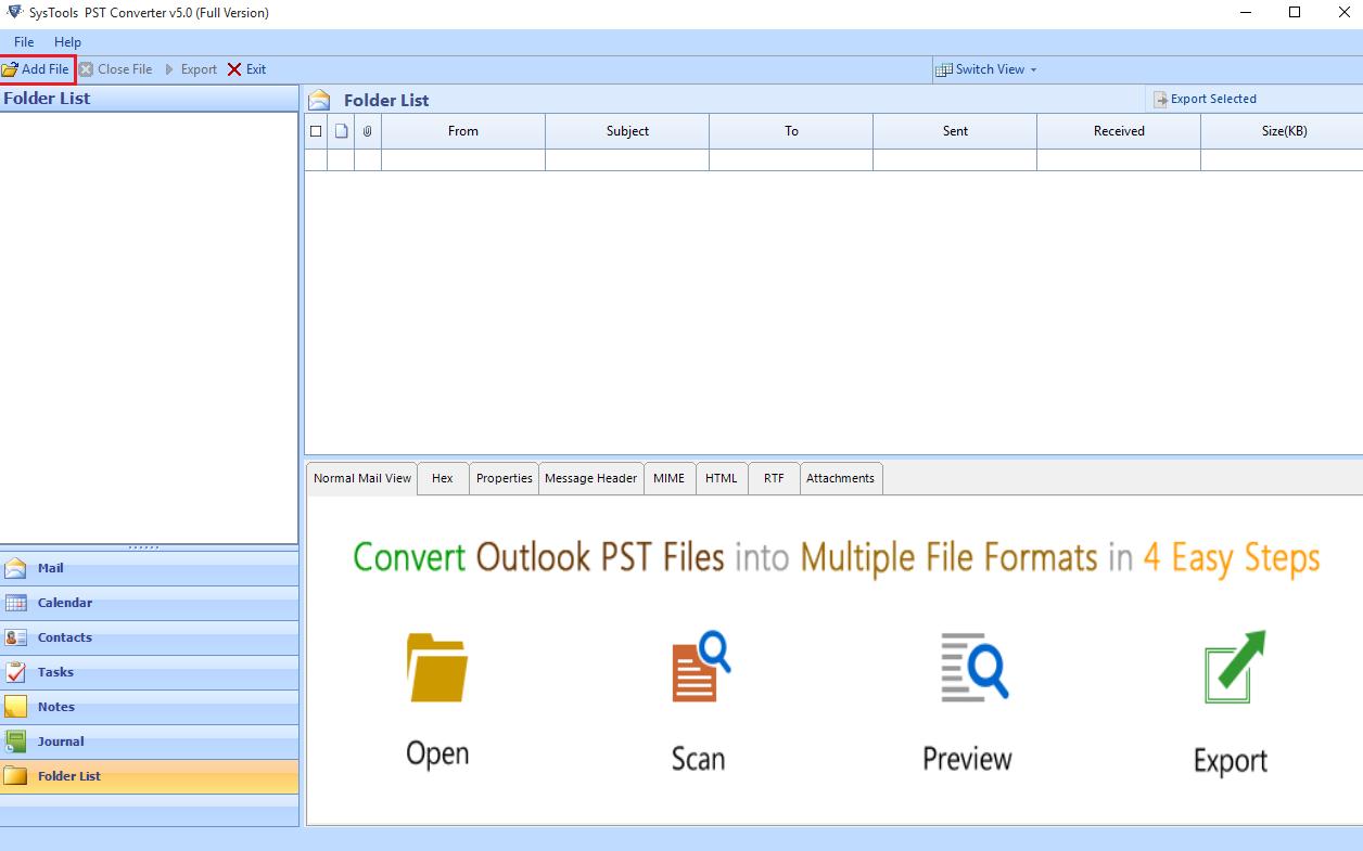 Add PST File