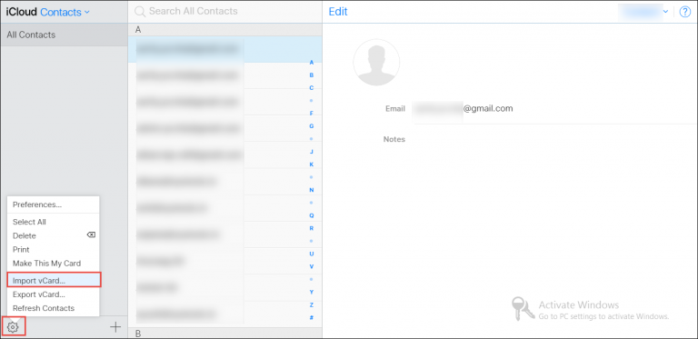 import CSV contacts to Apple address book