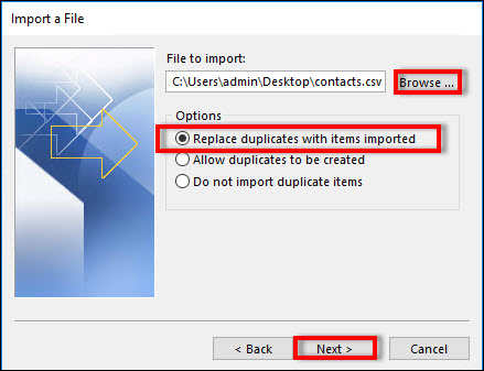 Do not import duplicate items