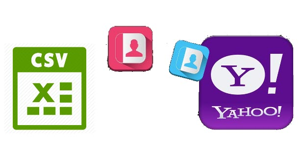 import csv contacts to yahoo mail