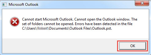 Can Not Start Microsoft Outlook