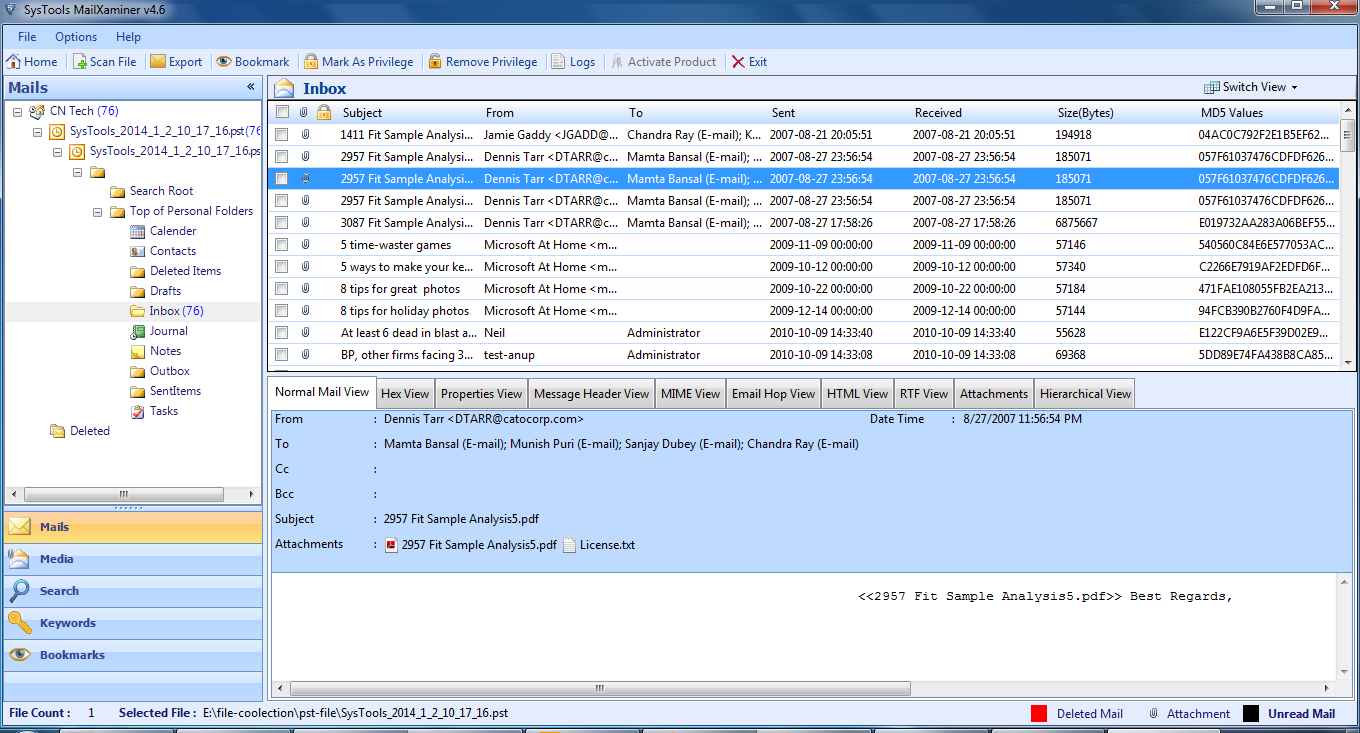 printing outlook emails to pdf with header information