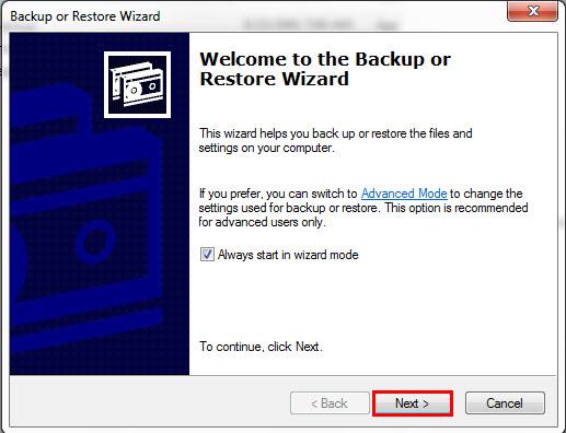 Open BKF file