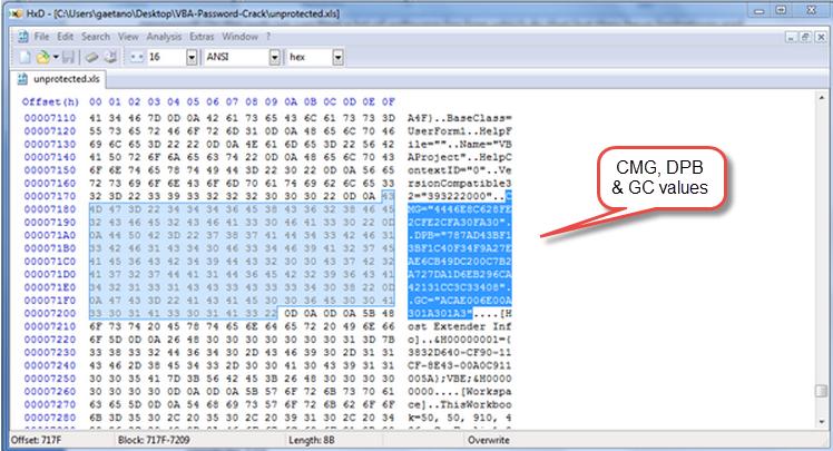 Crack VBA Macro Password in Excel 2007 Worksheets