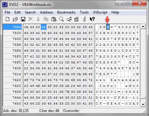 crack vba password xlsx