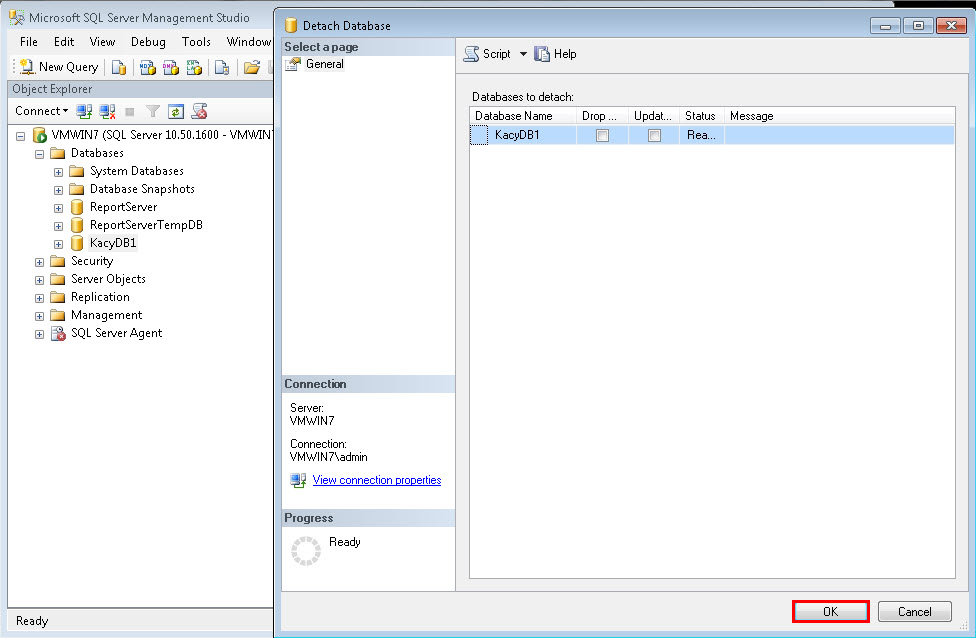 how to connect sql server database in c windows application