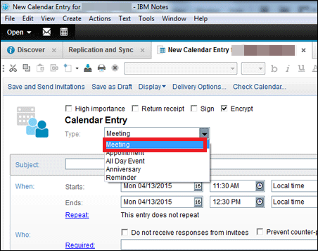 Schedule A Meeting In Lotus Notes 9 Steps By Steps Process