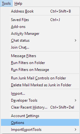 Mozilla Thunderbird Won't Send Email with Attachments