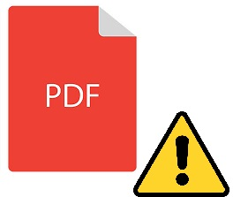 pdf file does not open
